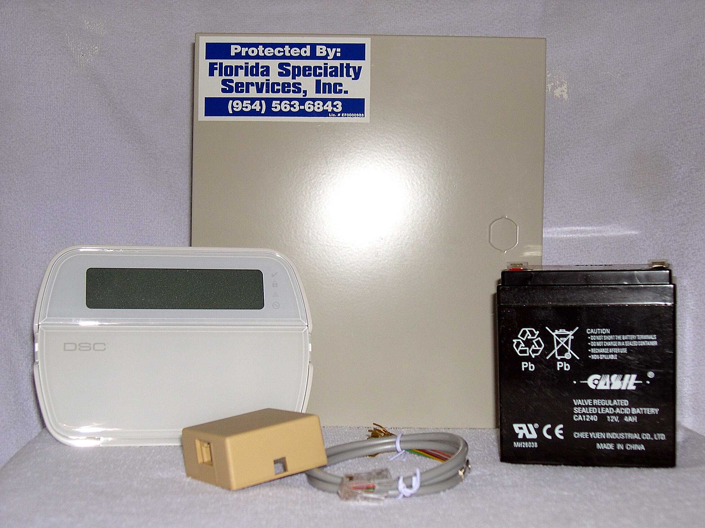 Florida Specialty Services Of Daytona Beach Existing Burglar Alarm Control Keypad Panel And Battery